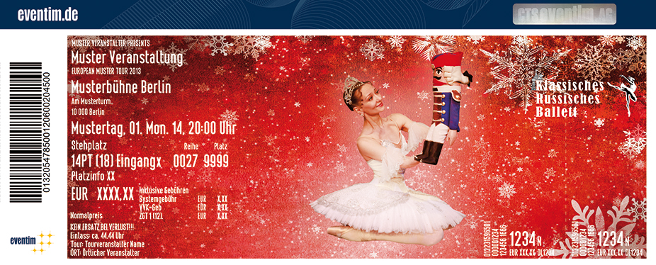 Karten für Der Nussknacker - Klassisches Russisches Ballett aus Moskau in Bruchsal