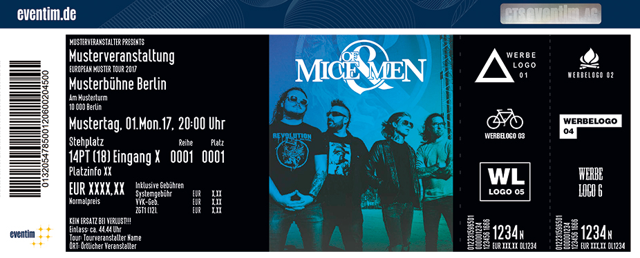 Of Mice & Men Karten für ihre Events 2017