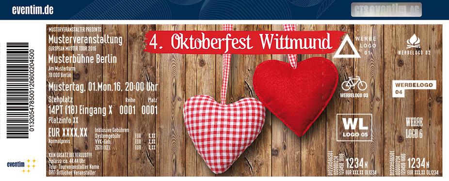 Karten für 4. Oktoberfest Wittmund in Wittmund