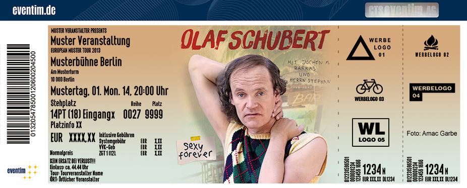 Karten für Olaf Schubert: Sexy forever - Neues Programm in Ilsenburg