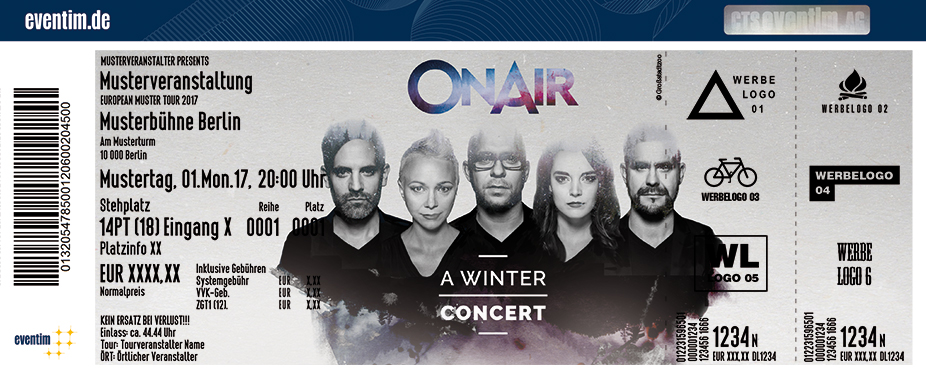 Karten für Onair - A Winter Concert in Oldenburg