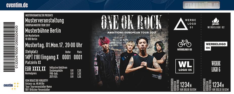 Karten für One Ok Rock - Ambitions European Tour 2017 in Berlin