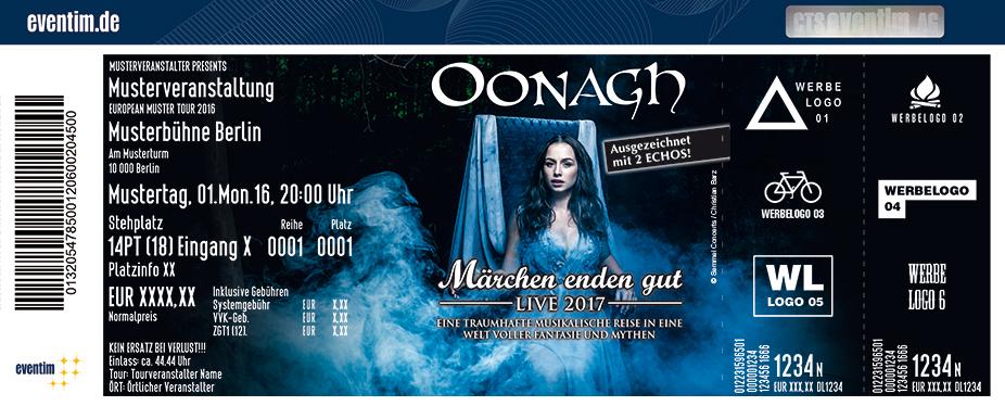 Oonagh Karten für ihre Events 2017