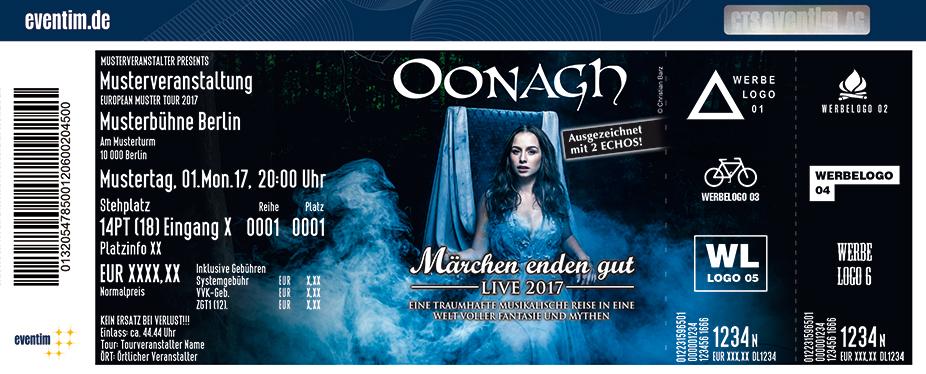 Karten für Oonagh: Märchen enden gut - Tour 2017 in Zwickau