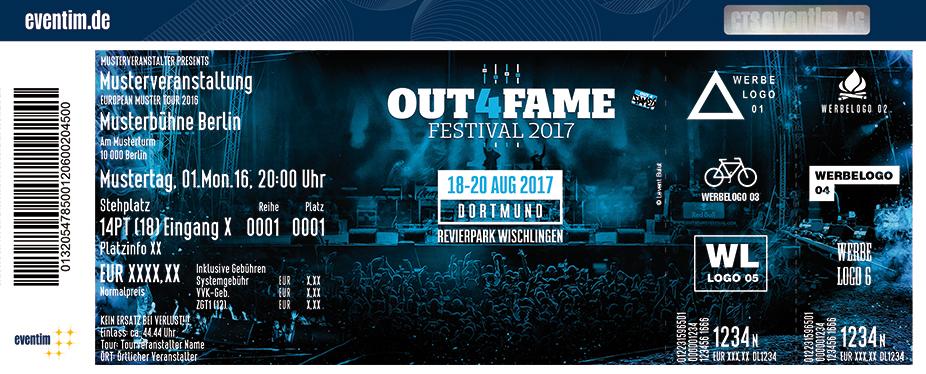 Out4Fame Festival Karten für ihre Events 2017