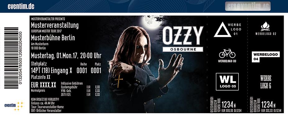 Ozzy Osbourne Karten für ihre Events 2018