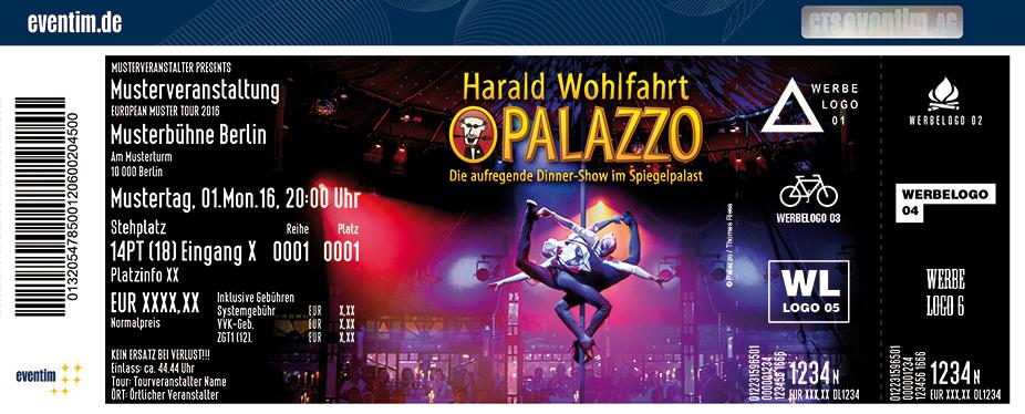 Karten für Harald Wohlfahrt PALAZZO in Stuttgart