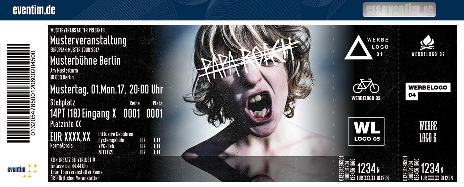 Karten für Papa Roach: Crooked Teeth Tour 2017 in Ludwigsburg