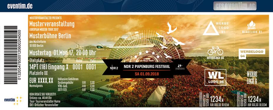 Ndr 2 Papenburg Festival Karten für ihre Events 2018