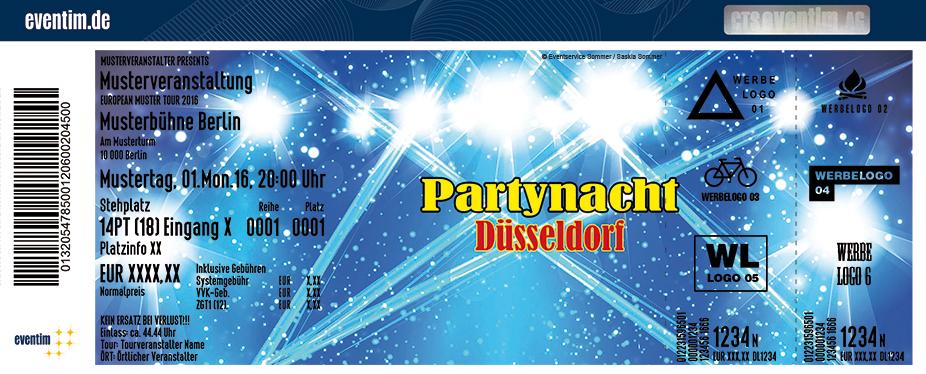 Karten für Partynacht Düsseldorf - Freuen Sie sich auf 6 Stunden Party pur in Düsseldorf