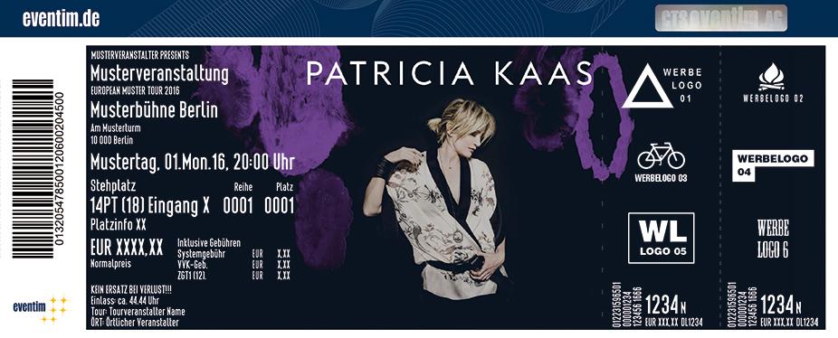 Patricia Kaas Karten für ihre Events 2017