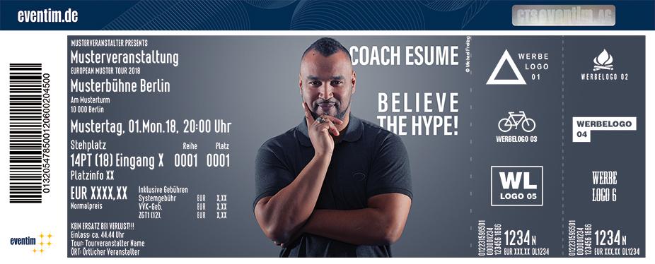 Coach Esume Karten für ihre Events 2018