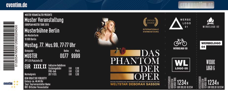 Karten für Das Phantom der Oper mit Deborah Sasson in Lübeck