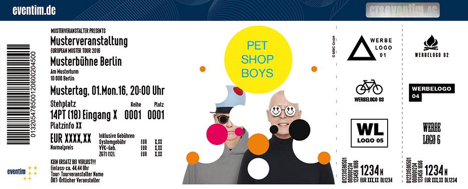 Pet Shop Boys Karten für ihre Events 2017
