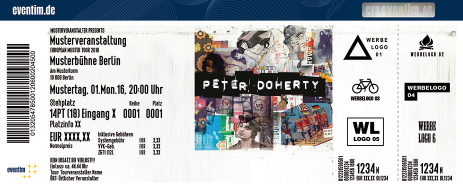 Peter Doherty Karten für ihre Events 2017