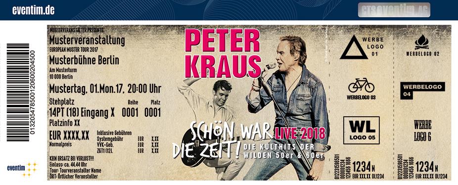 Karten für Peter Kraus: Schön war die Zeit! Die Kulthits der wilden 50er & 60er in Lübeck