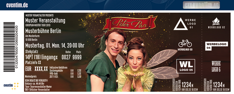 Karten für Peter Pan - das Musical - Theater Liberi in Passau