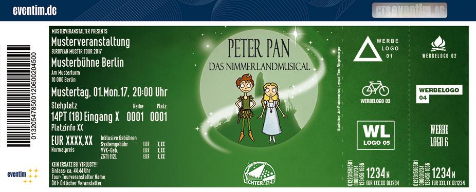Karten für Peter Pan - Das Nimmerlandmusical vom Theater Lichtermeer in Hamburg