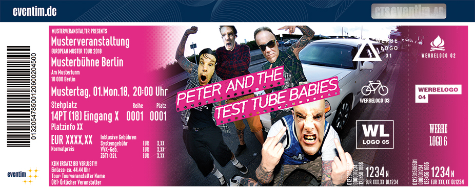 Karten für Peter And The Test Tube Babies in München