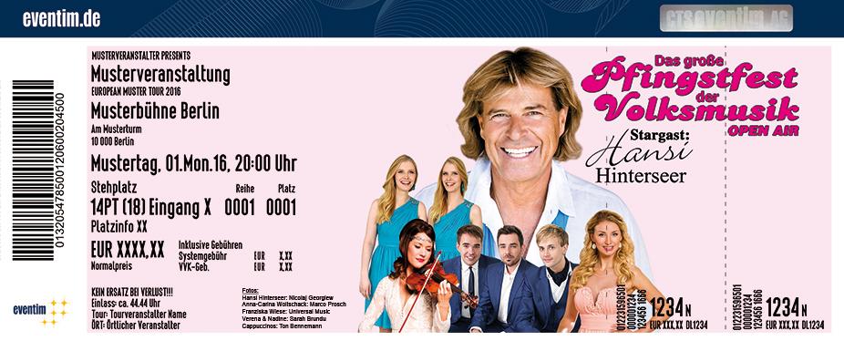 Hansi Hinterseer Karten für ihre Events 2017