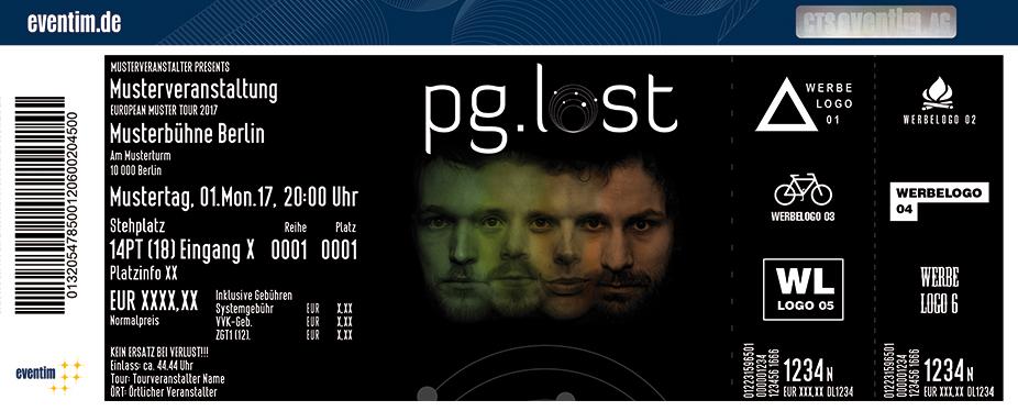 Pg.lost Karten für ihre Events 2017