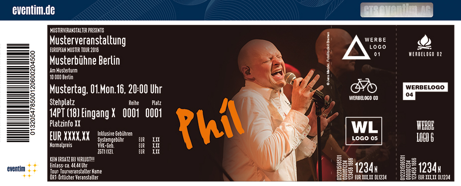 Phil Karten für ihre Events 2018