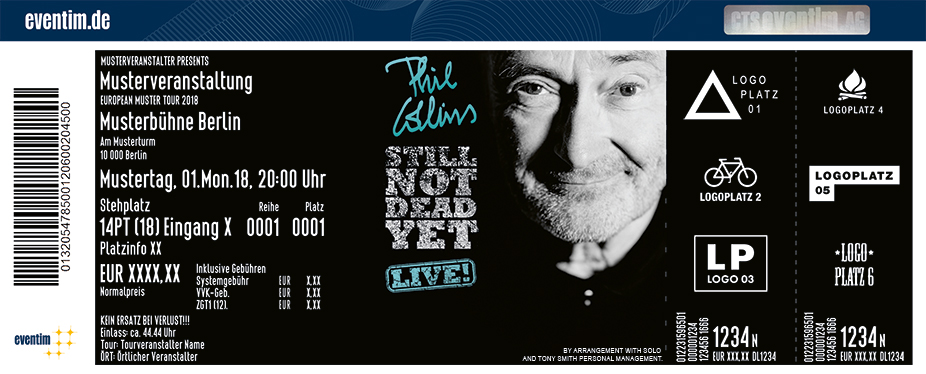tickets f r phil collins in stuttgart am. Black Bedroom Furniture Sets. Home Design Ideas