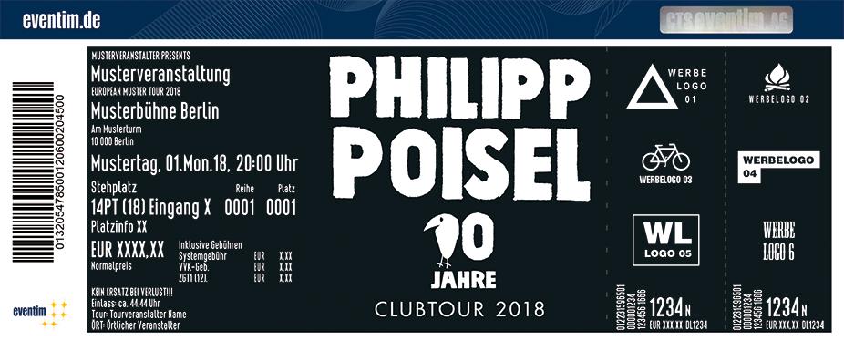 Karten für Philipp Poisel: 10 Jahre Clubtour 2018 in Nürnberg