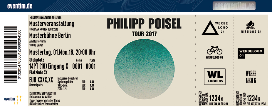 Philipp Poisel Karten für ihre Events 2017