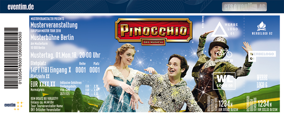 Karten für Pinocchio - das Musical in Tuttlingen