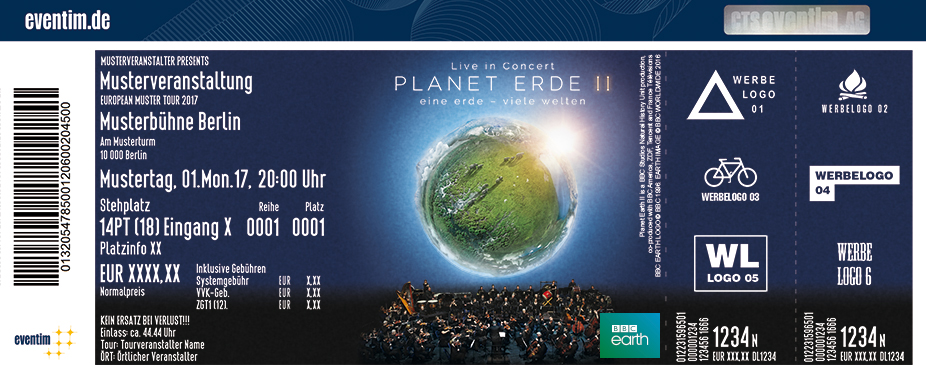 Karten für PLANET ERDE II: eine erde - viele welten - LIVE IN CONCERT in Hannover