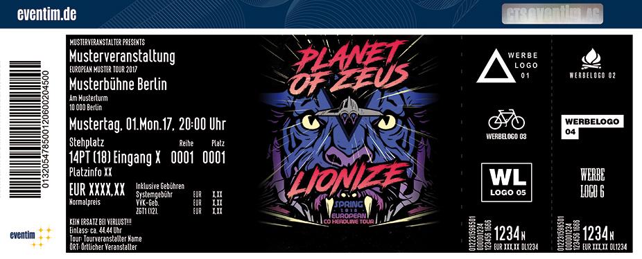 Planet Of Zeus Karten für ihre Events 2017