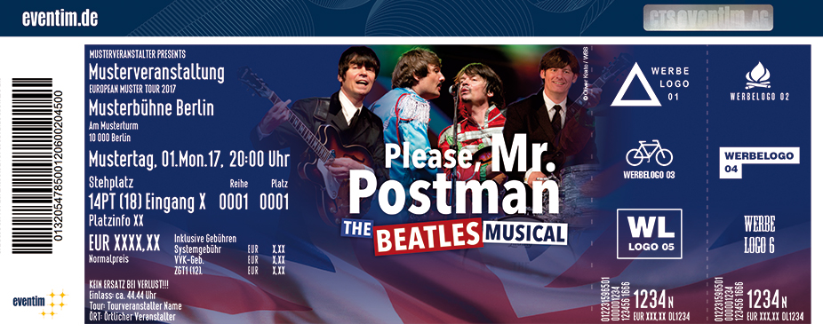 Karten für Please, Mr. Postman The Beatles Musical in Halle / Saale