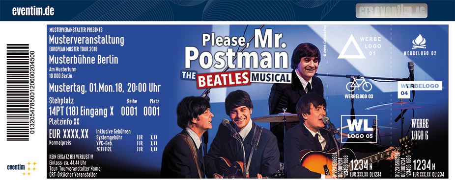 Karten für Please, Mr. Postman The Beatles Musical in Erfurt