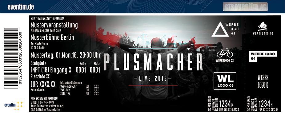 Plusmacher Karten für ihre Events 2018