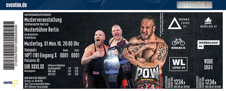 P.o.w - Power Of Wrestling Karten für ihre Events 2017