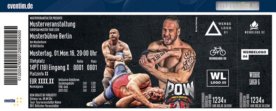 P.o.w - Power Of Wrestling Karten für ihre Events 2017