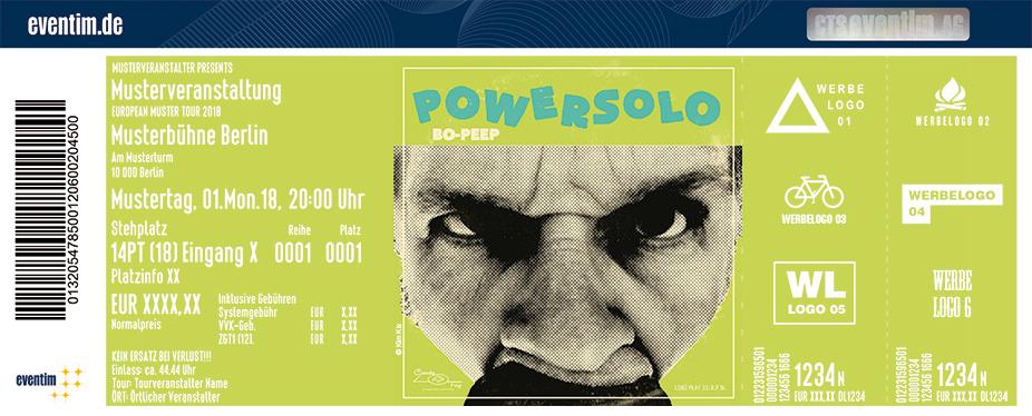 Powersolo Karten für ihre Events 2018