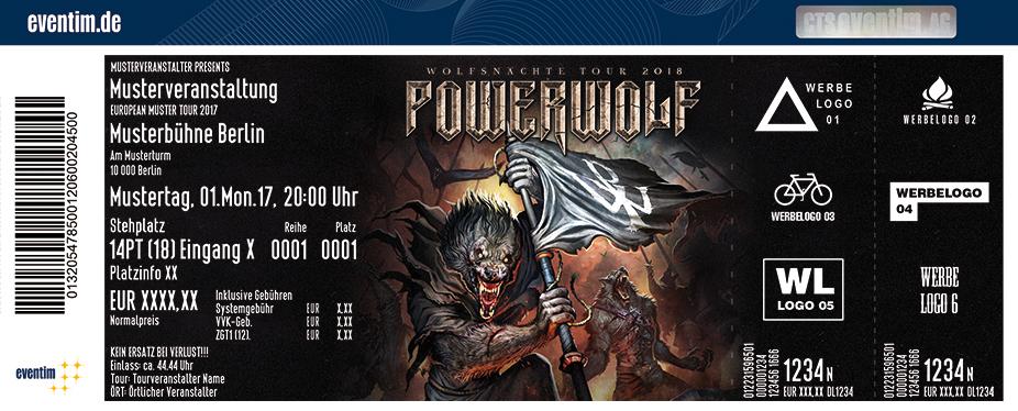 Powerwolf Karten für ihre Events 2017