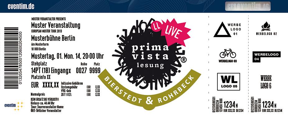 Prima Vista Lesung Karten für ihre Events 2017