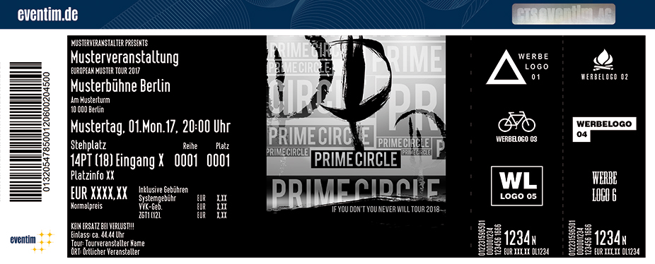 Karten für Prime Circle: If You Don't You Never Will Tour 2018 in Osnabrück