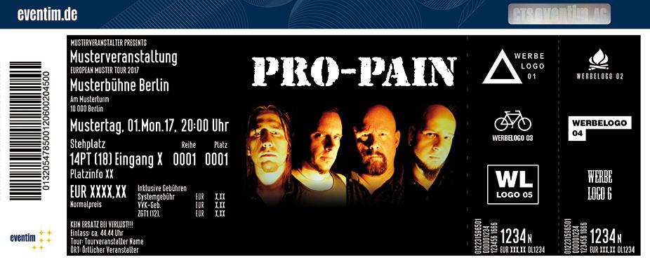 Pro-Pain Karten für ihre Events 2017
