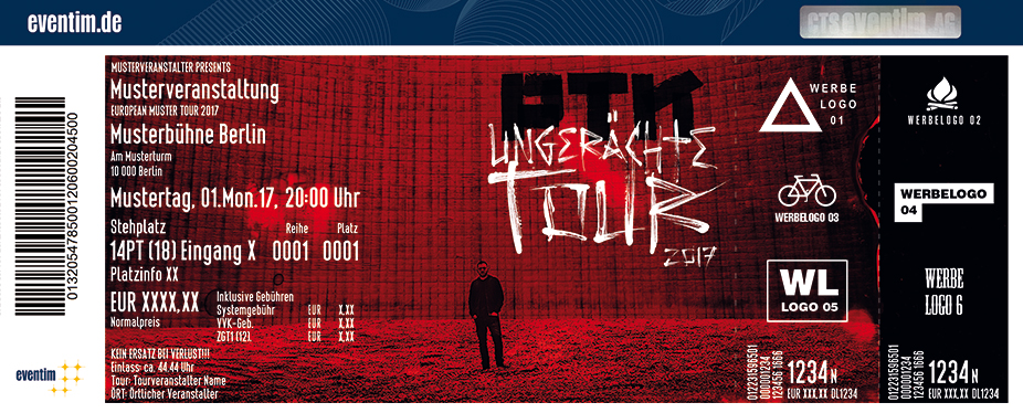 Karten für PTK: Ungerächte Tour 2017 in Berlin