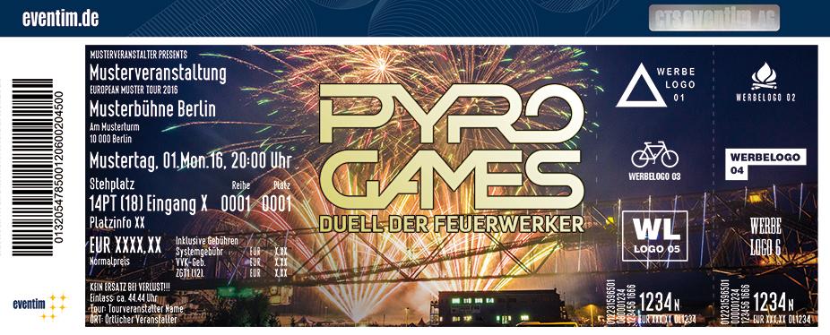 Karten für Pyro Games 2017 - Duell der Feuerwerker in Neubrandenburg