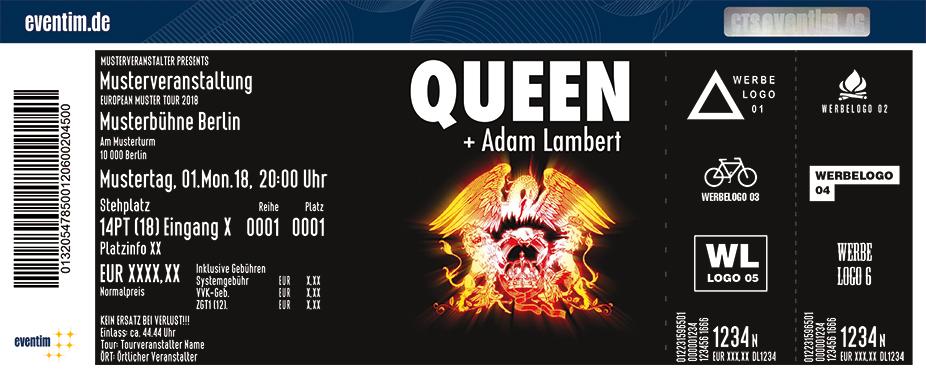 Queen Karten für ihre Events 2018