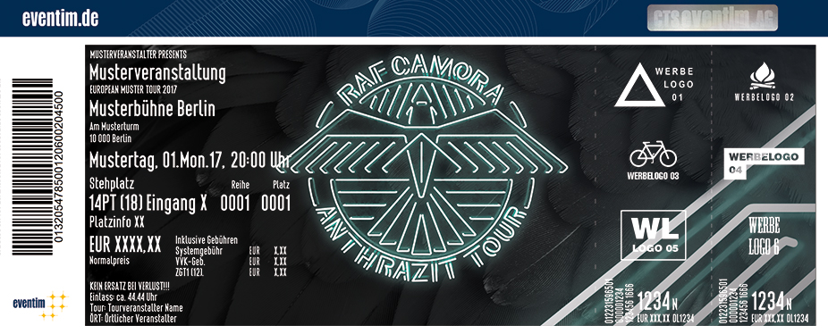 Karten für RAF Camora: Anthrazit Tour 2018 in München