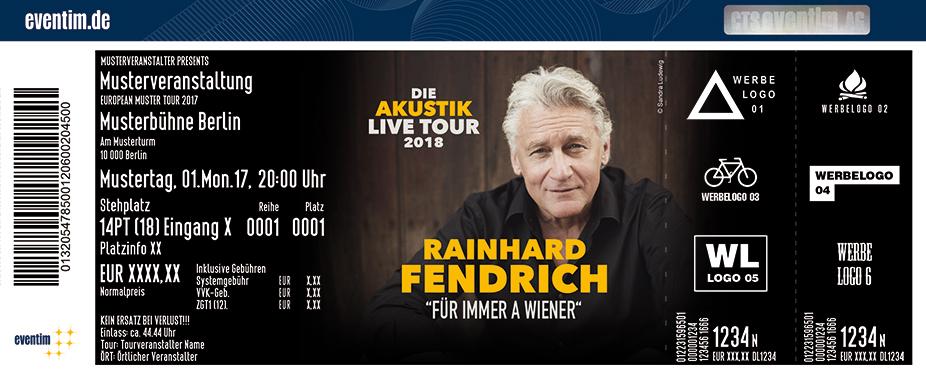 Karten für Rainhard Fendrich: Für immer a Wiener in Füssen