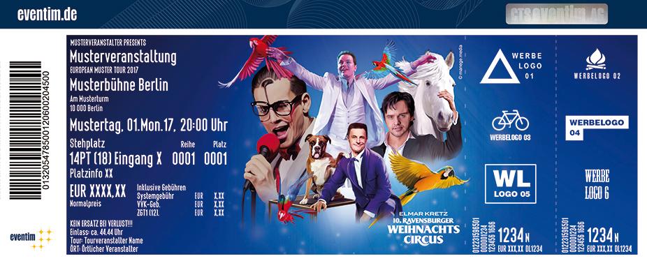 Karten für 10. Elmar Kretz Ravensburger Weihnachtscircus in Ravensburg