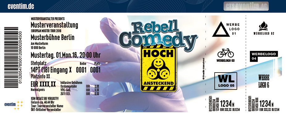Rebellcomedy Karten für ihre Events 2017