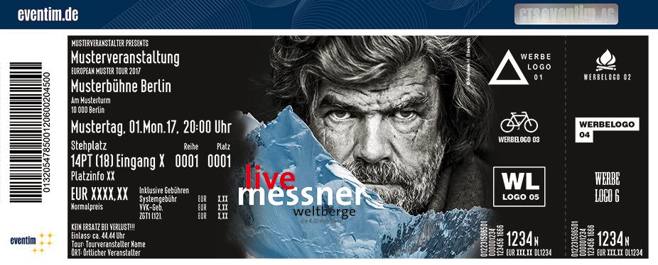 Karten für Reinhold Messner: Weltberge m4 - Die vierte Dimension in Hannover
